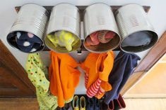 Upcycled Can Mudroom Storage | 10 Valuable Winter Storage Ideas You Need On Chilly Days