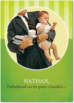 Welcome to Fatherhood.  New Arrival Cards  #baby #fathersday  Treat.com