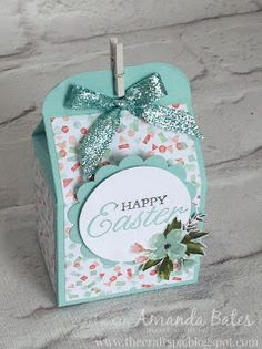 The Craft Spa - Stampin' Up! UK independent demonstrator : Pretty Easter Bakers Box