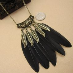 Indian Necklace: Feathers