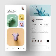 UI by Martyna Zielińska - chosen by -⠀ -⠀ -⠀ -⠀ -⠀ Ios App Design, User Interface Design, Web Design, Graphic Design, Ui Design Inspiration, Daily Inspiration, Design Ideas, User Experience Design, Ui Elements