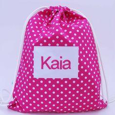 Personalised backpack or swim bag