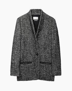 Isabel Marant Étoile | Denver Short Herringbone Coat | La Garçonne
