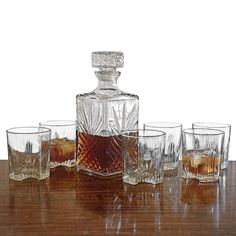 I think I'd like it better if they dialed the beveling back a bit, but this is the closest I've found yet to the decanter *set* I want.