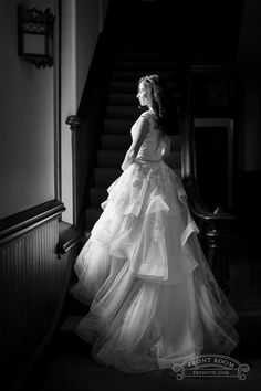 A stunning bridal portrait featuring a Premiere Couture gown and hair done by Milwaukee stylist, Chic Hair Chick, photo by Front Room Studios Bride Photography, Bridal Portraits, Milwaukee, One Shoulder Wedding Dress, Studios, Reception, Stylists, Gowns, Couture
