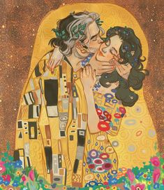 Pretty Art, Cute Art, Kiss Illustration, Kissing Drawing, Kiss Painting, Kiss Art, Comic Kunst, Renaissance Paintings, Classical Art