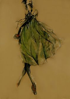 """"""" 2008 Croquis/Illustration that I love. Illustration Mode, Fashion Illustration Sketches, Fashion Sketches, Arte Fashion, Moda Fashion, Fashion Design, Women's Fashion, Silhouette Mode, Green Girl"""