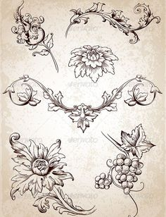 Vintage Design Elements #GraphicRiver Vector vintage Victorian floral elements for design. Zip file contains fully editable EPS10 vector file and high resolution RGB Jpeg image. Created: 11May13 GraphicsFilesIncluded: JPGImage #VectorEPS Layered: No MinimumAdobeCSVersion: CS Tags: beautiful #berry #branch #chrysanthemum #decorative #design #drawing #element #floral #flower #fruit #grape #leaf #nature #old #plant #retro #swirl #vector #victorian #vintage