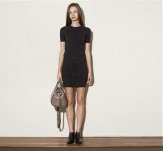 49a5d92f7a4d April 2013  T by Alexander Wang Matte Tricot Short Sleeve Twist Dress in  Black.