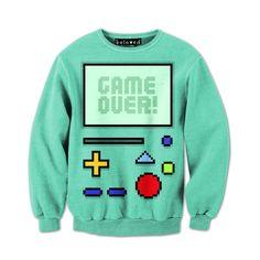 Game Over Sweatshirt ($59) #Beemo #BMO #AdventureTime