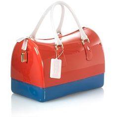 Furla Candy Satchel Handbag with Blue Blanc Rouge