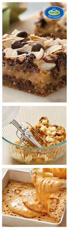 47th Bake-Off Contest Finalist: Chewy Chocolate Chip-Almond Bars by Rachel Ruiz from Hurlburt Field, FL