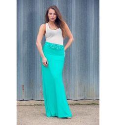 Long fully lined skirt with embellished waist band - Arzu Kara