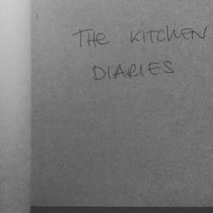 Inspired by @nigelslater I've started my own Kitchen Diaries. #lablondefemme #kitchendiaries #moleskine #diary #homecooking #bn