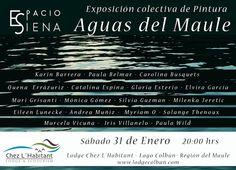 Exposición Aguas del Maule, muestra colectiva de artistas, organizada por ESPACIO SIENA.