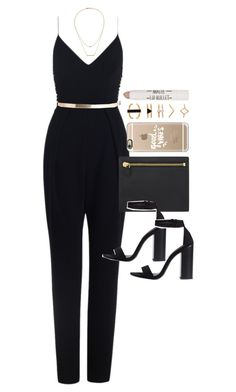Outfit for prom by ferned on Polyvore featuring Zimmermann, Zara, Tom Ford, Kacey K Fine Jewelry, Forever 21, Casetify, ASOS and Topshop