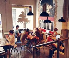 Cool cafes in Malasaña, Madrid with good coffee and free WiFi.
