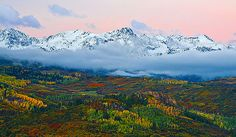Sneffels Range at Dawn | This beautiful view towards the Sne… | Flickr
