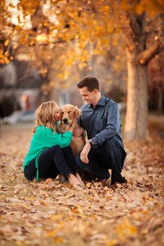 Engagement Photos, Autumn, Denver, #engagement Jason+Gina Wedding Photographers - the dog stole my heart <3