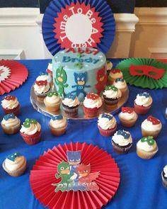 Pj Mask Cupcake Cake Blue Dreams Cakes Pinterest Pj