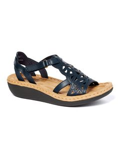 Look what I found on #zulily! Navy Chambray Sandal #zulilyfinds