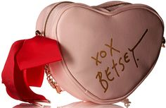 Betsey Johnson Be Mine Light Up Crossbody Bag is a gorgeous heart-shaped bag  with functional lights that can flash or hold steady! At a discount! #BetseyJohnson #BetseyBabe #hearts #valentines #pastel