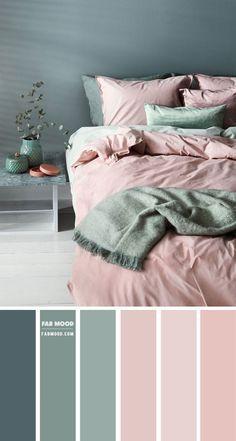 Bedroom Colour Palette, Green Colour Palette, Bedroom Color Schemes, Interior Colour Schemes, Grey Living Room Ideas Color Schemes, Apartment Color Schemes, Brown Color Schemes, Bedroom Wall Colour Ideas, Home Color Schemes