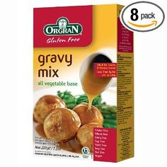 OrgraN Gluten Free Gravy Mix, All Vegetable Base 7.2 oz boxes (Pack of 8). Natural. 98% Fat free; Wheat free; Gluten Free; Dairy free; Casein free; No MSG added; No added cane sugar; Yeast  free; Vegan. Orgran Gravy Mix is a quality product produced from all vegetable derived ingredients. This flavorful smooth sauce is naturally wheat free and gluten free with no added yeast extracts, cane sugar, dairy or msg. Orgran is a world leader and trusted name in natural gluten free nutrition and…