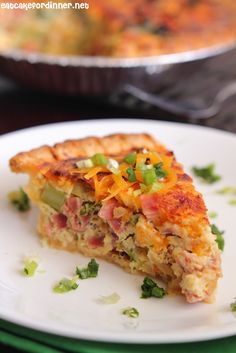 Easy Ham and Broccoli Quiche