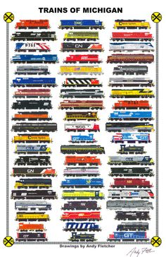 Trains of Pennsylvania: Hand drawn locomotives of Pennsylvania, past and present by Andy Fletcher Diesel Locomotive, Steam Locomotive, Train Drawing, Train Posters, Railroad Pictures, Train Art, Old Trains, Train Pictures, Train Engines