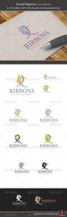 Social Agency Logo Template — Vector EPS #strokes #creative • Available here → https://graphicriver.net/item/social-agency-logo-template/2890973?ref=pxcr