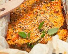 Clafoutis salé aux carottes et aux herbes au sésame : http://www.fourchette-et-bikini.fr/recettes/recettes-minceur/clafoutis-sale-aux-carottes-et-aux-herbes-au-sesame.html