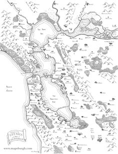 Awesome Maps Depict the Bay Area As a Colony of Middle Earth