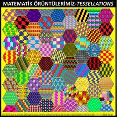 6.sınıf öğrencilerimle örüntü ve süslemeler konusunun ardından bilgisayarada kendi örüntü motiflerimizi oluşturduk. Her öğrencinin süslemesi ile de tüm gruba ait bu PATCHWORK modeli ortaya çıktı.