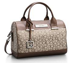 Calvin Klein Logo Jacquard Sleek Barrel Satchel Bag Handbag Natural Tan Dp B00vvtj0dw Ref Cm Sw R Pi F9csvb0ndf5k3
