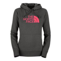 The North Face Women's Half Dome Hoodie in Graphite Grey and Teaberry Pink