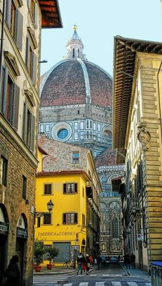 Florence, Italy- I finally found a picture of the street we stayed on for 4 days!