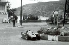 Alberto Ascari was the reigning double world champion from 1952-3, but for the rules changes in 1954 moved to Lancia. Their D50 car was repeatedly subject to delay, however, and ultimately only made its world championship debut at the final race of the 1954 season, the Spanish Grand Prix on the Pedralbes street circuit in Barcelona.