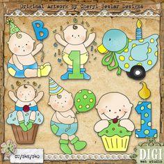 Celebrate Baby Boy 1 - Cheryl Seslar Country Clip Art