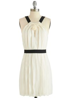 Modern Galvanizer Dress. Your charismatic style - as evinced by this ivory shift - motivates those around you to put their best selves forward! #cream #modcloth