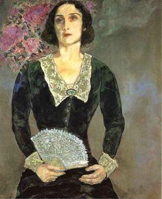Marc Chagall ~ Bella in Green, 1934