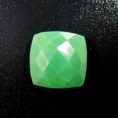 Chrysoprase Cushion Checker Cut  Jewelry by oblivionjewellery