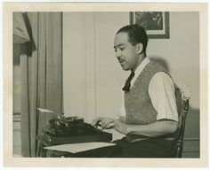 Happy 111th birthday to the legendary American poet, social activist, novelist, playwright, and columnist Langston Hughes. At The New York Public Library you can find ample Langston Hughes information, including photos(the one featured here is from our Manuscripts and Archives Division), papers, books, and films. Of course, you can also go over to the NYPL's great Schomburg Center for Research in Black Culture and visit the Langston Hughes Auditorium.
