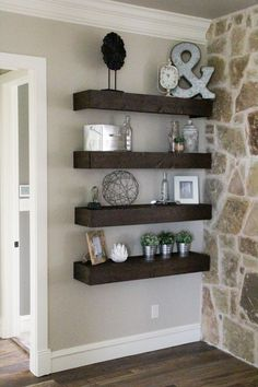 We are so glad you're here and we would love for you to follow us on Instagram and Pinterest to keep up with all of our most recent projects and sneak peeks Hey guys!! I am so excited about this project that I'm sharing today!!! I built the 8 floating shelves you see there for {...Read More...}