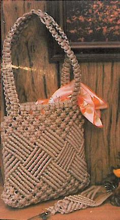 1970's Vintage Macrame Checkmate Purse with by GracefullyClumsy