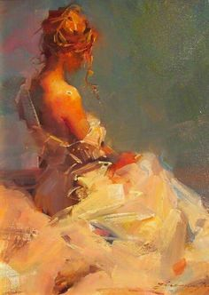 Zhaoming Wu :: Astoria Fine Art Gallery in Jackson Hole Oil on Canvas Original Painting romantic woman painting woman drawing inspiration Renaissance Paintings, Renaissance Art, Aesthetic Painting, Aesthetic Art, Figure Painting, Painting & Drawing, Woman Painting, Classical Art, Pretty Art