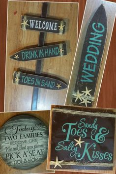 Beach theme Wedding signs