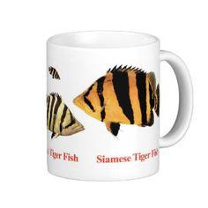 Siamese Tiger fishのマグカップ コーヒーマグ