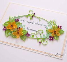 Kolejna karteczka #quilling #quillingflowers #paperflowers #quillingcards #paperartist #handmade