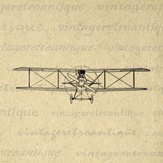 Items similar to Printable Old Fashioned Biplane Graphic Image Antique Airplane Digital Vintage Plane Artwork Clip Art for Transfers etc on Etsy Plane Drawing, Plane Tattoo, Planes, Clip Art, Digital Wall, Vintage Artwork, Printable Wall Art, Wall Prints, Printables